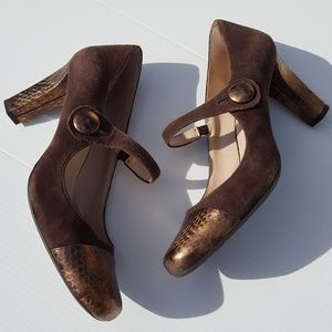 Franco Sarto | Brown Mary Jane Heels size 9 shoes